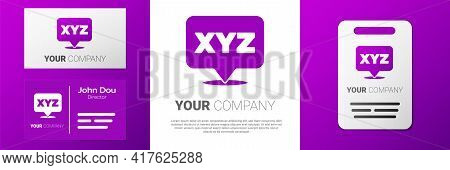 Logotype Xyz Coordinate System Icon Isolated On White Background. Xyz Axis For Graph Statistics Disp