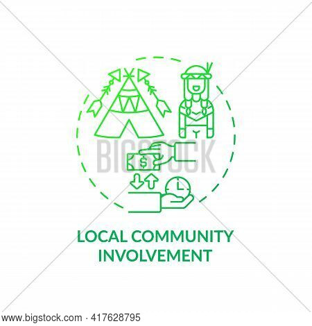 Local Community Involvement Concept Icon. Best Sustainable Tourism Practices. Discover Local Culture