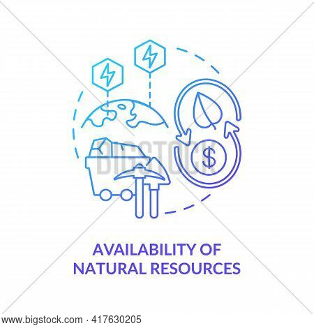 Natural Resources Availability Concept Icon. Energy Security Idea Thin Line Illustration. Excessive