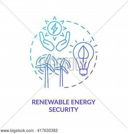 Renewable Energy Security Concept Icon. Security Type Idea Thin Line Illustration. Diversification F