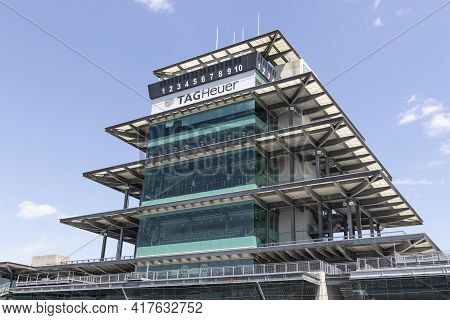 Indianapolis - Circa April 2021: The Pagoda At Indianapolis Motor Speedway. The Pagoda Is One Of The