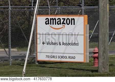 Indianapolis - Circa April 2021: Amazon.com Fulfillment Center. Amazon Is The Largest Internet-based