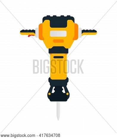 Electric Jackhammer. Power Tool For Household, Road, Construction And Finishing Works. Professional