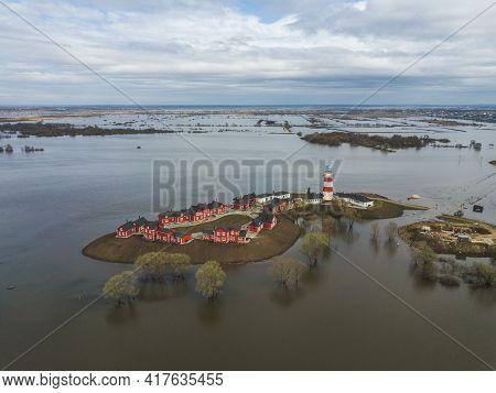 The Fishing Village Hotel Near Ryazan City. Russia