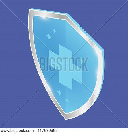 Antibacterial Sanitizer Or Antiseptic Label. Antimicrobial, Resistant Badge. Isometric Symbol Of Pro