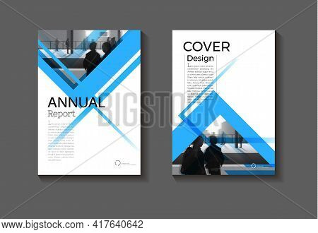 Cover Blue Abstract Background Modern Design Modern Book Cover Brochure Cover  Template,annual Repor