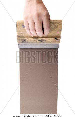 Photo of Brown silkscreen