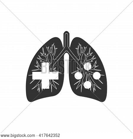 Illustration Vector Graphic Of Logo Lungs With Controllers