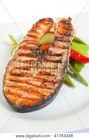 Grilled meat steak