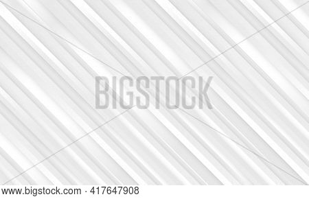 Abstract Metallic Silver Striped Light Vector Background With White And Soft Gray Three Dimensional