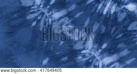 Maritime Batik Texture. Ink Painted Zigzag. Aquarelle Background. Sea Brush Wallpaper. Shibori Style