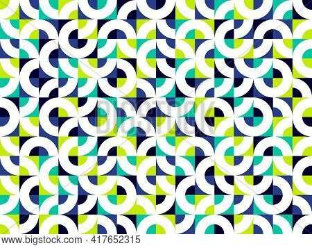 Abstract Vector Geometric Seamless Pattern, Color Simple Geometric Elements Repeat Tiles, Wallpaper