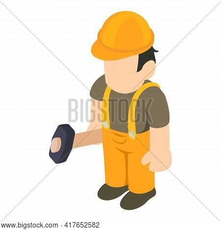 Builder Icon. Isometric Illustration Of Builder Vector Icon For Web
