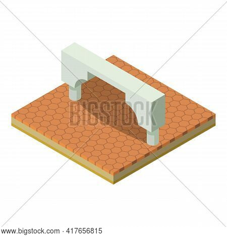 Modern Arch Icon. Isometric Illustration Of Modern Arch Vector Icon For Web