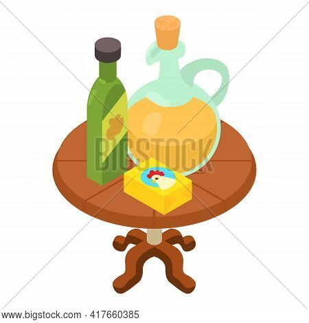 Homemade Dressing Icon. Isometric Illustration Of Homemade Dressing Vector Icon For Web