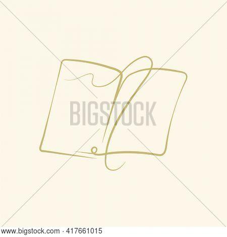 Doodle tome logo doodle illustration