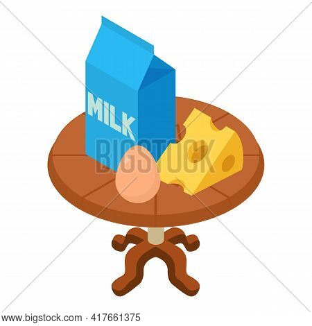 Healthy Nutrition Icon. Isometric Illustration Of Healthy Nutrition Vector Icon For Web