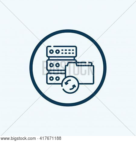 File Management Icon Isolated On White Background From Work From Home Collection. File Management Ic