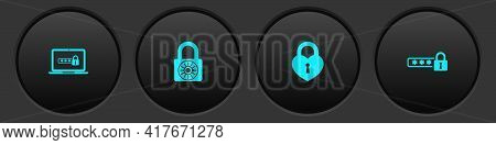 Set Laptop With Password, Safe Combination Lock Wheel, Castle The Shape Of Heart And Password Protec