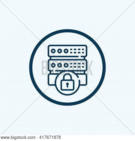 Database Icon Isolated On White Background From Robotics Collection. Database Icon Thin Line Outline