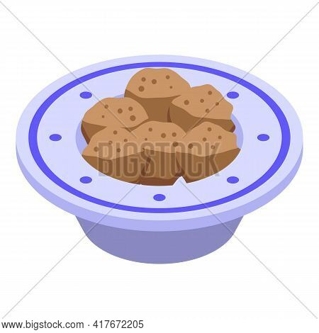 Bowl Falafel Icon. Isometric Of Bowl Falafel Vector Icon For Web Design Isolated On White Background