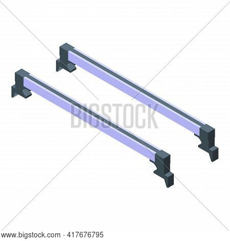 Auto Roof Bars Icon. Isometric Of Auto Roof Bars Vector Icon For Web Design Isolated On White Backgr