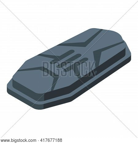 Modern Car Roof Box Icon. Isometric Of Modern Car Roof Box Vector Icon For Web Design Isolated On Wh