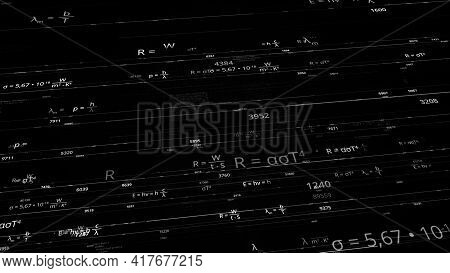 Mathematical Formulas In Matrix. Animation. Rewritable Mathematical Formulas In Computer Matrix Netw