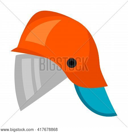 Illustration Of Fireman Helmet. Firefighting Item. Adversting Icon For Industry And Business.