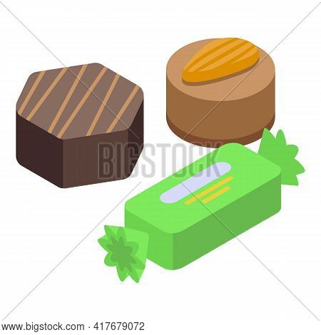Sweets Allergy Icon. Isometric Of Sweets Allergy Vector Icon For Web Design Isolated On White Backgr
