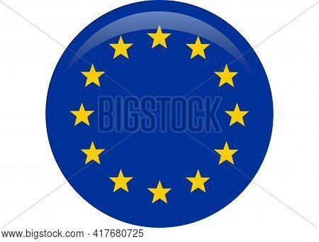 Simple Flag Of European Union. Eu, Europe