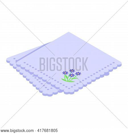 Dinner Handkerchief Icon. Isometric Of Dinner Handkerchief Vector Icon For Web Design Isolated On Wh