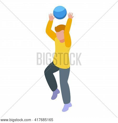 Hyperactivity Ball Play Icon. Isometric Of Hyperactivity Ball Play Vector Icon For Web Design Isolat