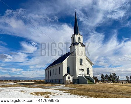 In The Midwest Prairie Of South Dakota Sits A Church No Longer In Use, But In Great Shape Still