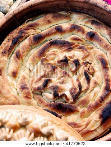 pita, tasty macedonian food,vegetable pie