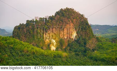 Scenery View Landscape Nature View Tropical Rainforest In The Morning Summer View Of Mountains Peak