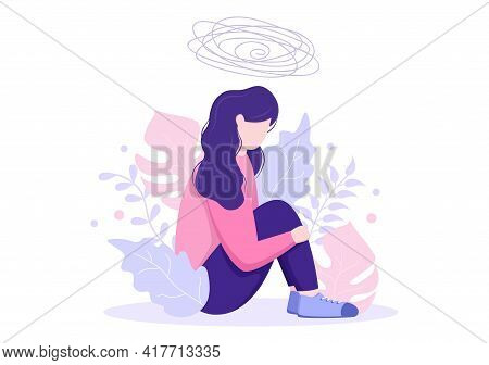 Mental Health Due To Psychology, Depression, Loneliness, Illness, Brain Development, Or Hopelessness