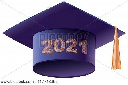 Mortarboard Square Academic Cap Symbol Graduation 2021 Year