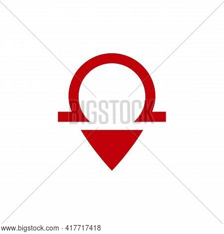Illustration Vector Design Graphic Of Logo Omega Pin Map