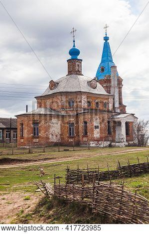 Church Of The Transfiguration Of The Savior 1793 In Shumash Village, Russia