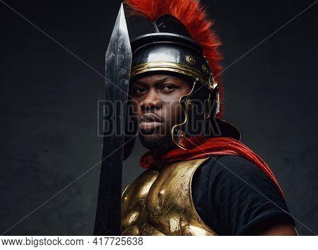 Portrait Of Roman Soldier Of African Descent