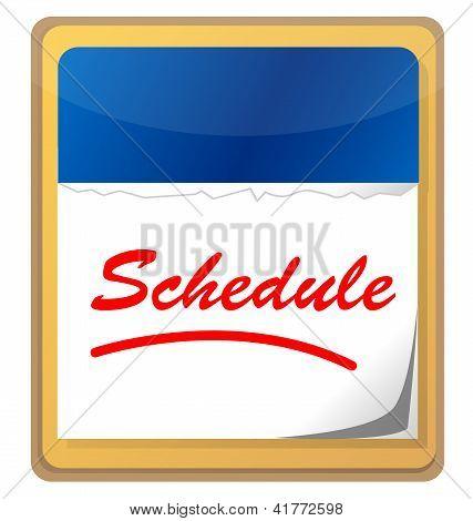 Kalender mit dem Wort-Zeitplan