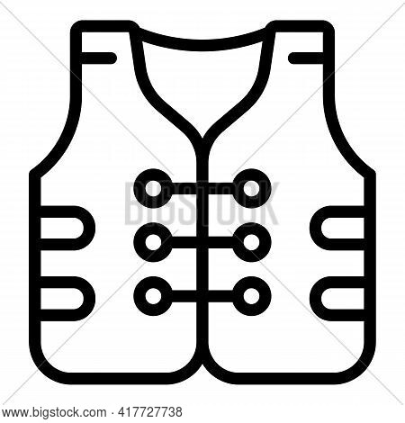 Swimming Jacket Icon. Outline Swimming Jacket Vector Icon For Web Design Isolated On White Backgroun