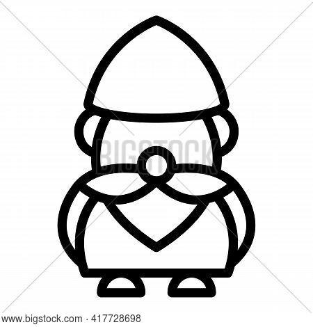 Statue Gnome Icon. Outline Statue Gnome Vector Icon For Web Design Isolated On White Background