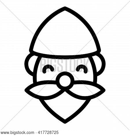 Statue Dwarf Icon. Outline Statue Dwarf Vector Icon For Web Design Isolated On White Background