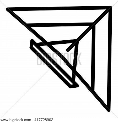Hang Glider Icon. Outline Hang Glider Vector Icon For Web Design Isolated On White Background