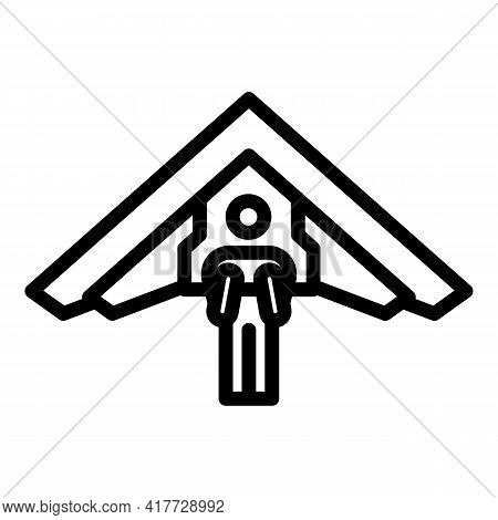 Sky Glider Icon. Outline Sky Glider Vector Icon For Web Design Isolated On White Background