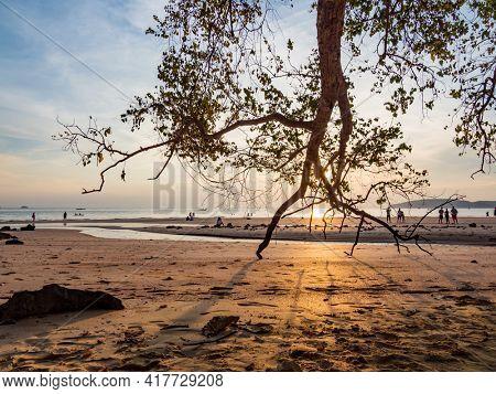 Sunset in Ao Nang Krabi province Thailand