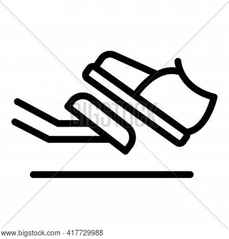 Foot Clutch Icon. Outline Foot Clutch Vector Icon For Web Design Isolated On White Background