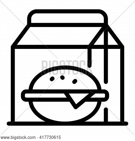 Fast Food Takeaway Icon. Outline Fast Food Takeaway Vector Icon For Web Design Isolated On White Bac